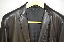 SUPER CHIC !!! GUCCI BY TOM FORD MEN  FITTED LEATHER JACKET/BLAZER  EU 48 US 38