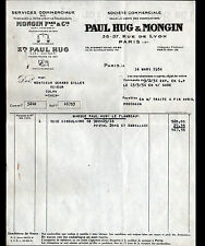 "PARIS (XII°) SCIES & OUTILS tranchants ""Paul HUG & MONGIN"" en 1934"