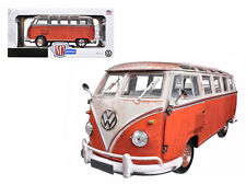 1960 Volkswagen Microbus Deluxe USA Red Rusted Verion 1:24 Diecast 40300-45a