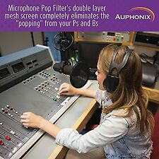Auphonix 6-Inch Microphone Pop Filter. Double Mesh Screen. Bonus Recording Ti...