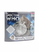 Dr Who 10th Doctor FOB Light Up Sound Talking Fob Engraved Pocket Watch W Chain