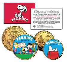 CHARLIE BROWN PEANUTS 24K Gold U.S Legal Tender 2-Coin Set *Officially Licensed*