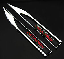 2pcs Auto Car Metal Knife Badge Emblem Decal Sticker For MS Racing Sports NEW