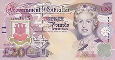 Gibraltar banknote 20 pounds (1995)  B125 P-27  UNC