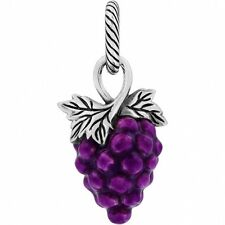 BRIGHTON GRAPEFUL BUNCH OF WINE GRAPES FALL AUTUMN HARVEST CHARM PENDANT