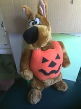 Trick or Treat Scooby-Doo Dog Pumpkin Plush Toy Stuffed Animal Halloween Decor