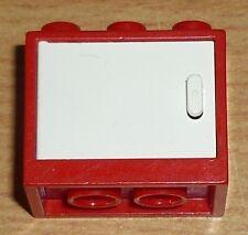 Lego City 1 Schrank mit Tür (rot / weiß)