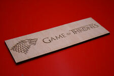 Wooden Bookmark Game Of Thrones Stark Dire Wolf Plywood Laser Engraved