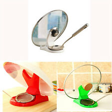 New Spoon Pot Lid Shelf Cooking Storage Kitchen Decor Tool Stand Holder