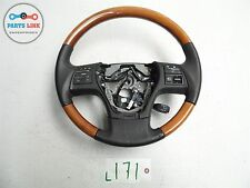 LEXUS RX350 10-12 STEERING WHEEL W/O AIRBAG W/ WOOD W/ NAVIGATION BLACK/BROWN OE