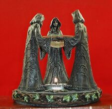 Pagan Wiccan Figures | Maiden Mother Crone Incense Oil Burner Witchcraft Circle