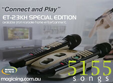 MAGIC SING ET23K SPECIAL - 2 WIRELESS MICS 5155 SONGS / DOWNLOAD OPTION & HDMI