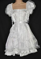 JOL 5 97 Gorgeous fluffy white satin sissy dress,  2XL size, CD/TV BN
