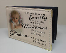 Personalised photo album, memory book, birthday christmas gift, family Grandma