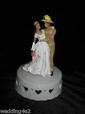 Wedding Reception Party Fireman Firefighter Custom Paint Cake Topper