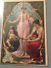 Vintage Pharmaceutical Advertising, PE-RU-NA, 1904, The Ills Of Life, Prolong