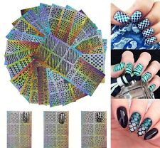 12 Sheets Nail Art Decor Stickers Vinyl Decal Stickers Manicure Template Random