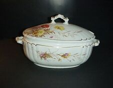 Antique A.J. Wilkinson England Covered Tureen Royal Semi Porcelain