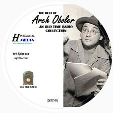 BEST OF ARCH OBOLER - 191 Shows - Old Time Radio In MP3 Format OTR On 3 CDs