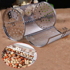 Drum Shape Stainless Steel  Rotary Oven Parts Grilled Coffee Beans Roasted Cage