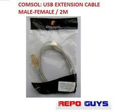 Comsol: USB Extension Cable Male to Female / 2M: BRAND NEW