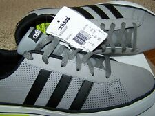 NEW!  Mens 9.5 Adidas Neo Baseline Daily Vulc Gray Black Sneakers Shoes Orig $60