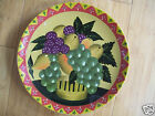 """The Gear Collection 10"""" Plate Country Farm Fruit Scene"""