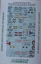 Xtradecal 1/72 X72058 RAF/Belgian/Dutch/Jordanian Hawker Hunter F 6 Decal set