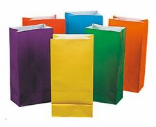 Pack of 12 Bright Color Paper Bags Favor Bags Treat Bags Lunch Bags Gift Bags