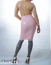 latex rubber high waisted fetish pencil skirt S M   sharkLTX chlorinated,