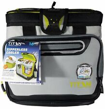 NEW GRAY Titan Deep Freeze Zipperless Cooler by Arctic Zone 16 Cans+Ice with Bin