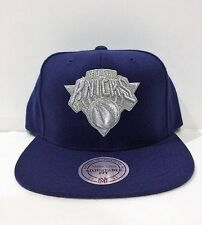 Mitchell &NESS NEW YORK Knicks snapback Adjustable HAT/CAP NAVY METALLIC SILVER