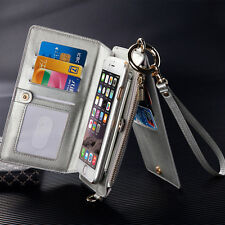 Women Wallet Case Genuine Leather Card Holder Cover For iPhone 6 6plus 7 7plus