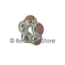 NEW Pandora Silver & Pink Opal Cabochon Teardrop Spacer Bead Charm ALE 790538POP
