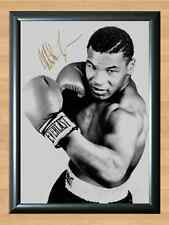 Mike Tyson A4 Signed Autographed Print Photo Poster ticket shirt dvd gloves