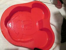 Mickey Mouse Baking Cake Jello Mold Red Silicone Disney Parks