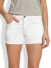"NWT Women's Joe's Jeans Rolled Denim Shorts Size 32 ""Pennie"" White Wash"