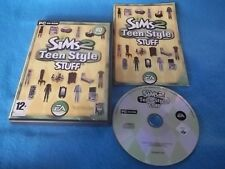 THE SIMS 2 TEEN STYLE STUFF ADD-ON PACK PC CD-ROM V.G.C. FAST POST COMPLETE