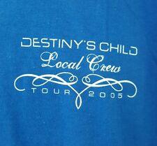 DESTINYS CHILD Vintage T Shirt XL XLarge Local Crew TOUR Concert 2005 BEYONCE