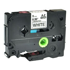 """1PK TZ221 TZe221 Black on White Label Tape for Brother P-Touch PT-1280 9mm 3/8"""""""