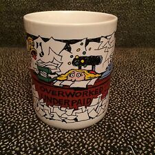 Overworked Underpaid - Ceramic Coffee Mug - Thought Factory - Japan