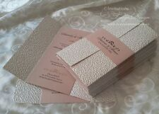 Gate fold Invitation 1X SAMPLE - wedding birthday handmade cards, paper invites