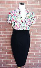 Alyx Limited womens/ladies black/Multicolor ruffle dress .*jcpenney Size 8