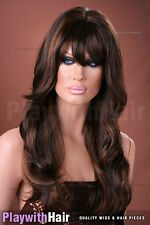 Lush Lengths Flowing Wig Brown Auburn Mix