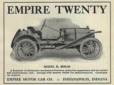 1910 Empire Twenty Motor Car Ad/ Indianapolis