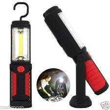 COB Inspection 8+1LED AKKU KFZ Flashlight Rotating Work Light 2 Base Torch Lamp