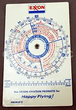 Exxon Aviation Products Pilot's Conversion Disc Wheel Flight Plan Sequence