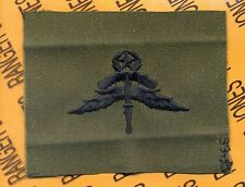 US Army Airborne Military Freefall Instructor MFF wing OD Green & Black patch
