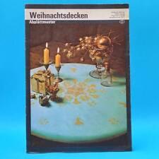 Weihnachtsdecken   Abplättmuster   Verlag für die Frau # 2107   DDR 1982 B