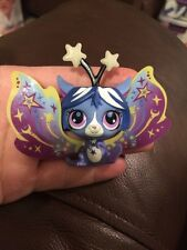 Littlest Pet Shop lot #2819 Moonlite Fairies Glow-in-Dark Star Gleam Blue Fairy